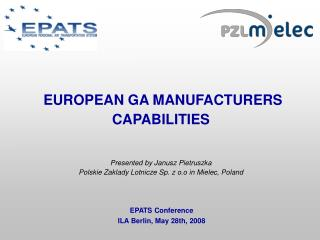 EPATS Conference ILA Berlin, May 28th, 2008
