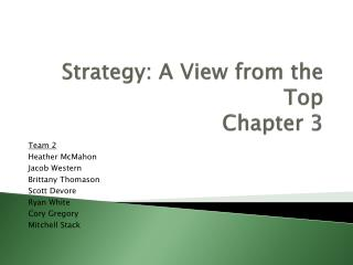 Strategy: A View from the Top Chapter 3