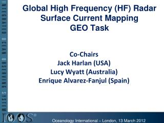 Global High Frequency (HF) Radar Surface Current Mapping GEO Task