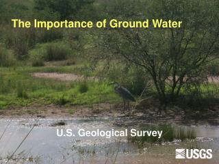The Importance of Ground Water