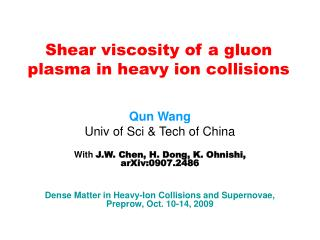 Shear viscosity of a gluon plasma  in heavy ion collisions