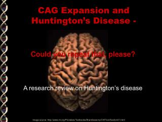 CAG Expansion and Huntington's Disease -