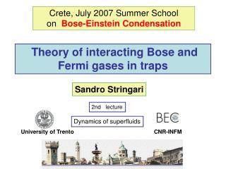 Theory of interacting Bose and Fermi gases in traps
