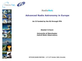 Radio Net :  Advanced Radio Astronomy in Europe