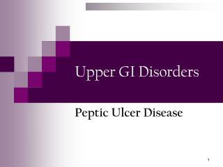 Upper GI Disorders