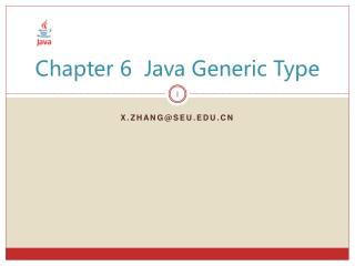 Chapter 6  Java Generic Type