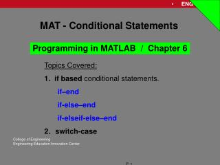 MAT - Conditional Statements