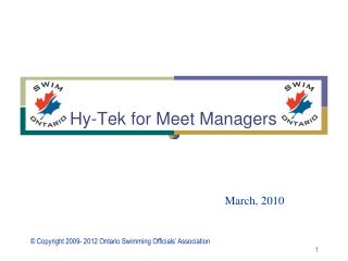 Hy-Tek for Meet Managers
