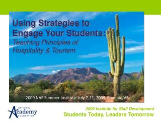 Using Strategies to Engage Your Students: Teaching Principles of Hospitality & Tourism
