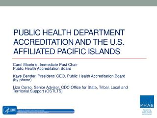 Public Health Department Accreditation and the U.S. Affiliated Pacific Islands