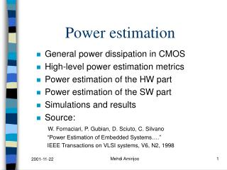 Power estimation