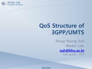 QoS Structure of 3GPP/UMTS