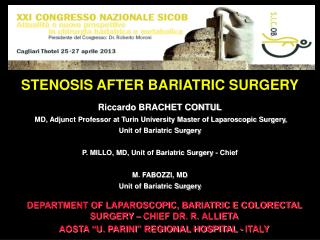 STENOSIS AFTER BARIATRIC SURGERY