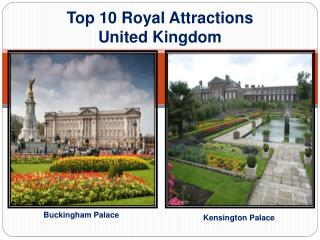 Top 10 Royal Attractions Palace in UK