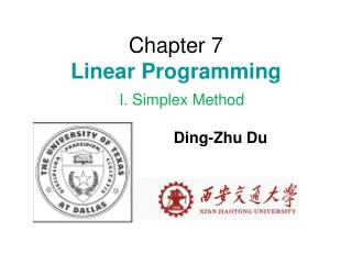 Chapter 7 Linear Programming