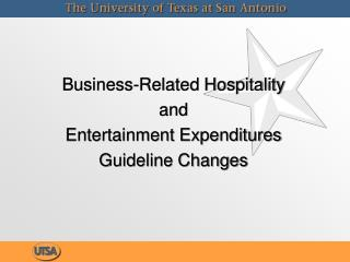 Business-Related Hospitality and Entertainment Expenditures Guideline Changes