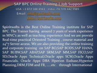 SAP BPC Online Training | SAP BPC Job Support