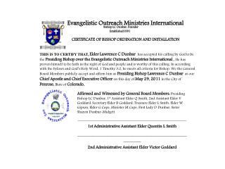 Evangelistic Outreach Ministries International