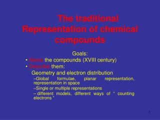 The traditional Representation of chemical compounds
