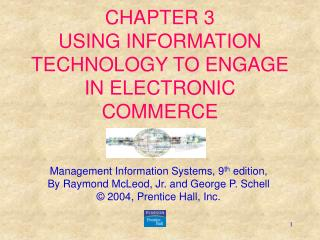 CHAPTER 3  USING INFORMATION TECHNOLOGY TO ENGAGE IN ELECTRONIC COMMERCE