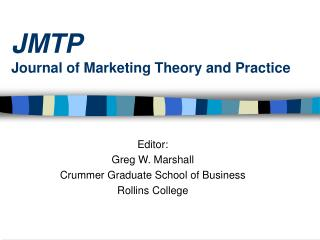 JMTP Journal of Marketing Theory and Practice