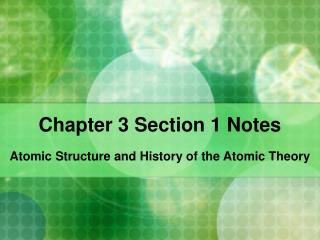 Chapter 3 Section 1 Notes