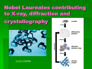 Nobel Laureates contributing to X-ray, diffraction and crystallography
