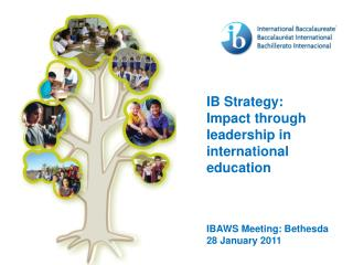 IB Strategy: Impact through leadership in international education IBAWS Meeting: Bethesda