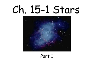 Ch. 15-1 Stars
