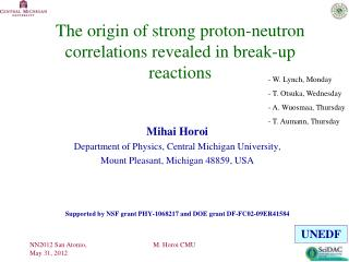 The origin of strong proton-neutron correlations revealed in break-up reactions