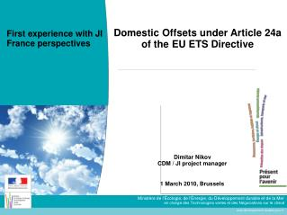Domestic Offsets under Article 24a of the EU ETS Directive