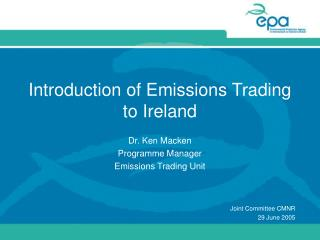Introduction of Emissions Trading to Ireland