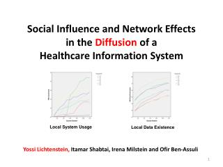 Social Influence and Network Effects  in the  Diffusion  of a  Healthcare Information System