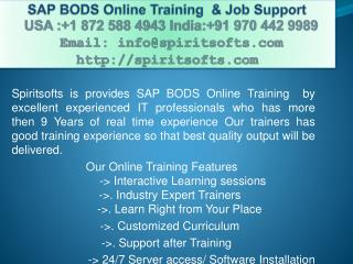 SAP BODS Online Training | SAP BODS Job Support