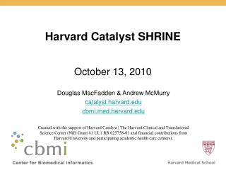 Harvard Catalyst SHRINE