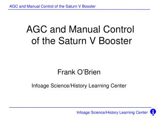 AGC and Manual Control  of the Saturn V Booster