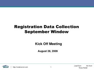 Registration Data Collection September Window