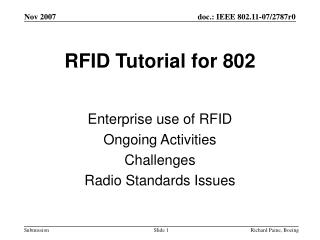 RFID Tutorial for 802