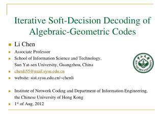 Iterative Soft-Decision Decoding of Algebraic-Geometric Codes
