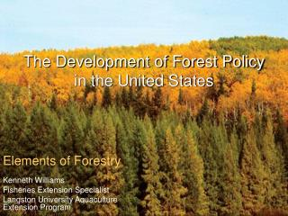 The Development of Forest Policy in the United States