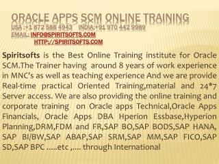 Oracle Apps SCM Online Training |  Oracle Apps Job Support