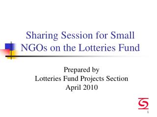 Sharing Session for Small NGOs on the Lotteries Fund