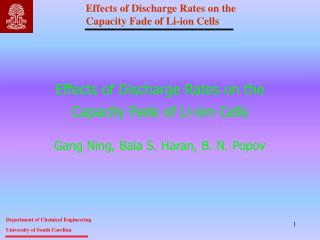 Effects of Discharge Rates on the Capacity Fade of Li-ion Cells