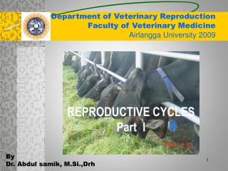 Department of Veterinary Reproduction Faculty of Veterinary Medicine Airlangga University 2009