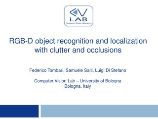 RGB-D object recognition and localization with clutter and occlusions