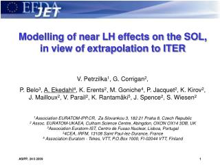 Modelling of near LH effects on the SOL, in view of extrapolation to ITER