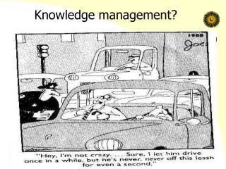 Knowledge management?