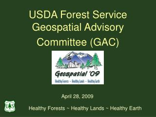 USDA Forest Service Geospatial Advisory Committee (GAC)