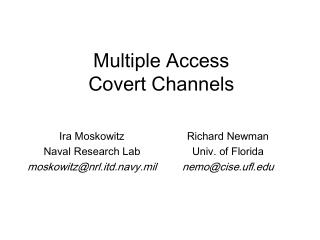 Multiple Access Covert Channels