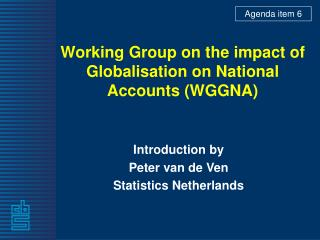 Working Group on the impact of Globalisation on National Accounts (WGGNA)